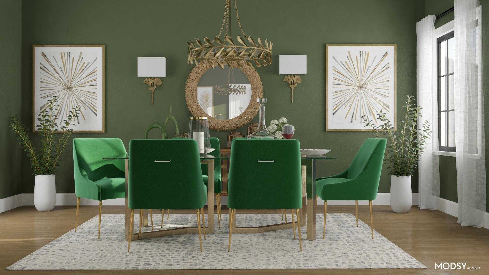 Emerald Green Hollywood Dining