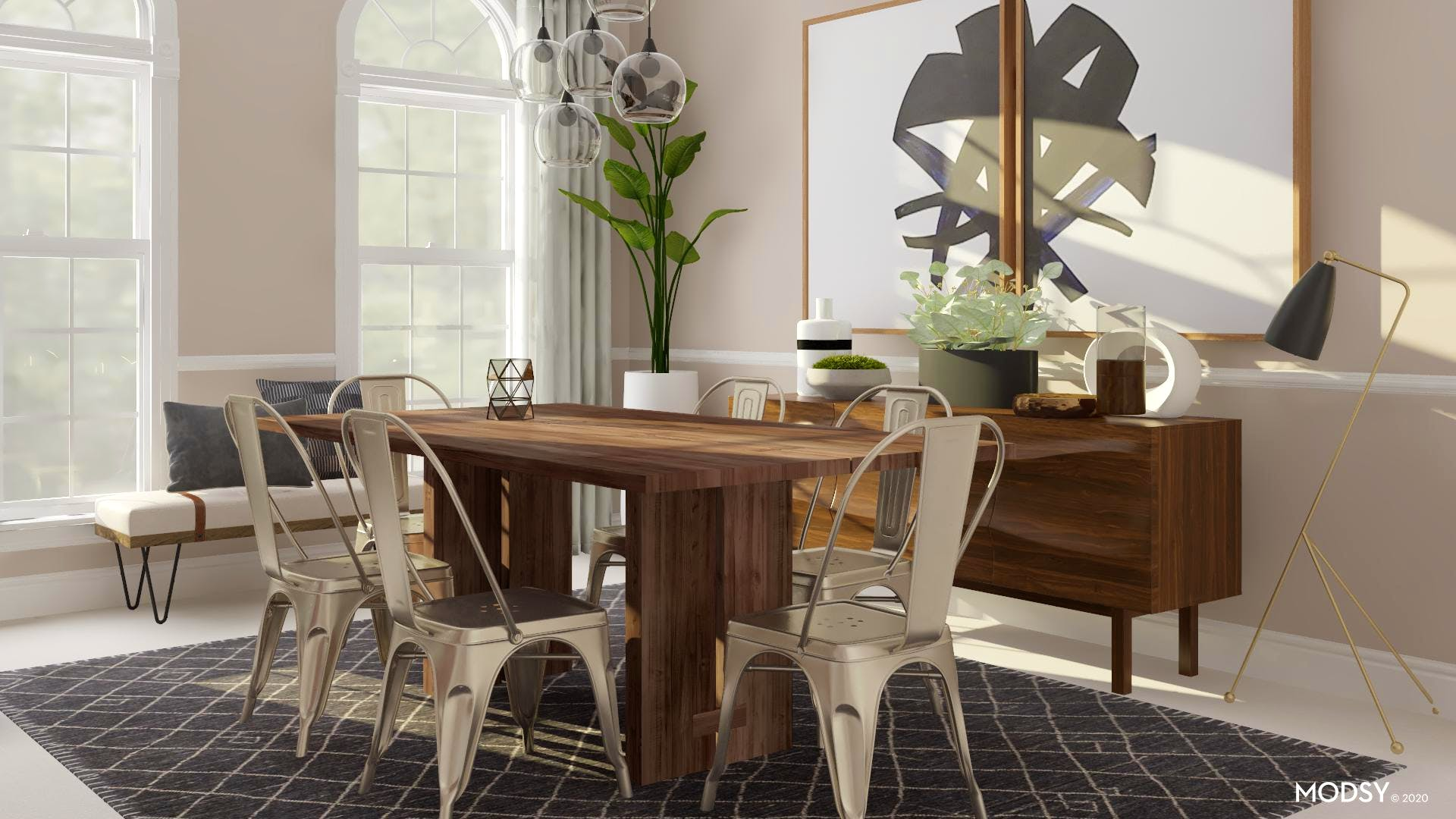 Industrial Enthusiast Dining Room Industrial Style