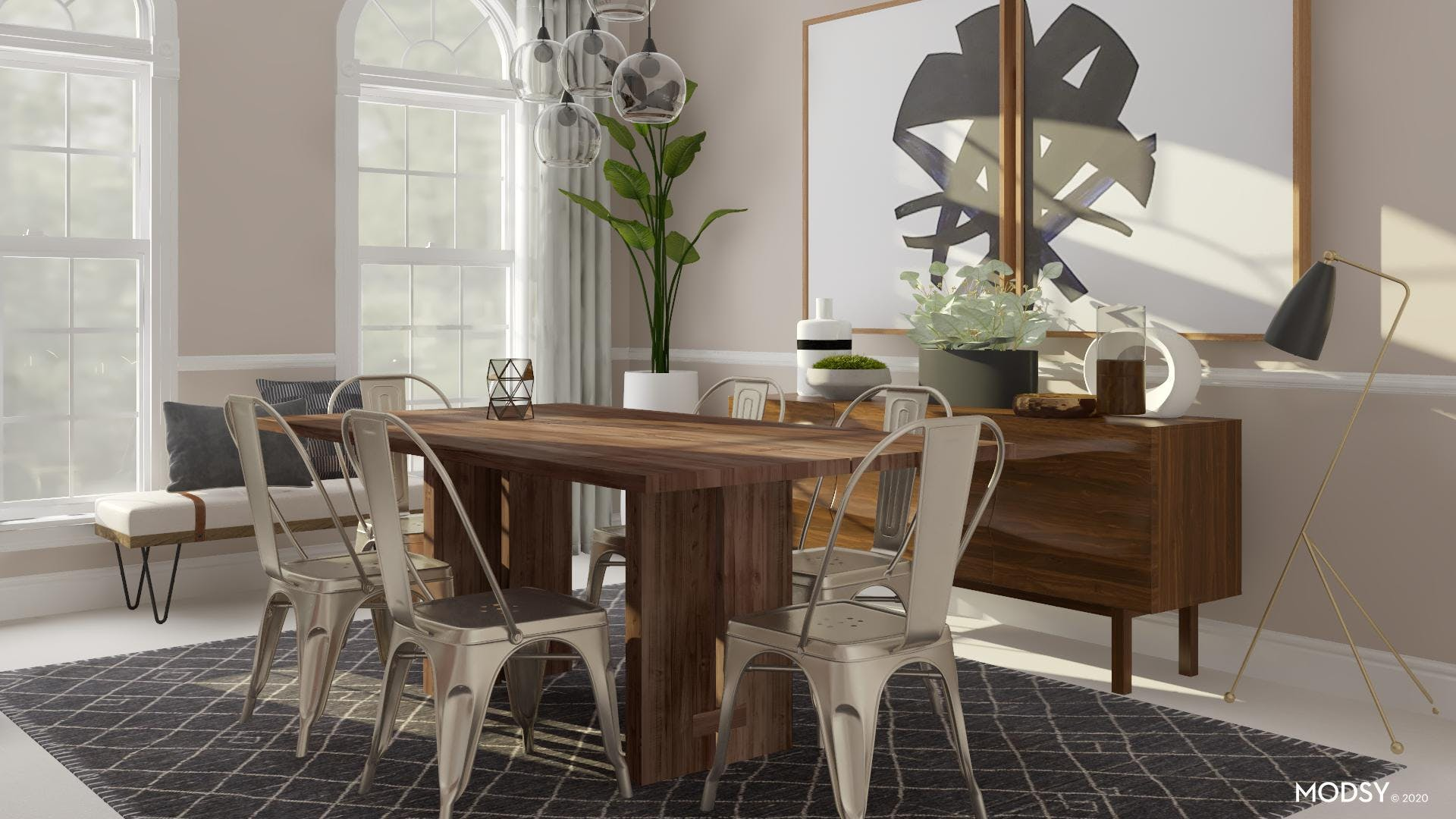 Industrial Enthusiast Dining room