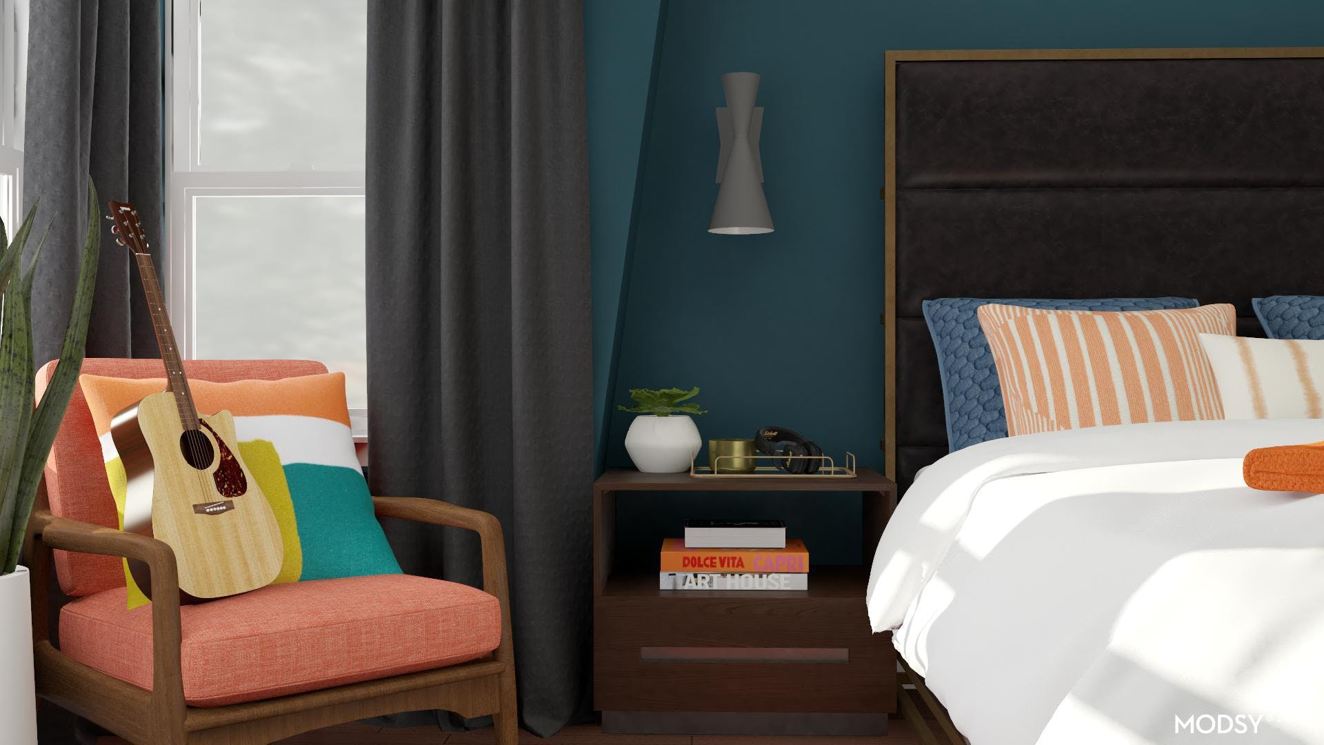 Bold Colored Accent Chair