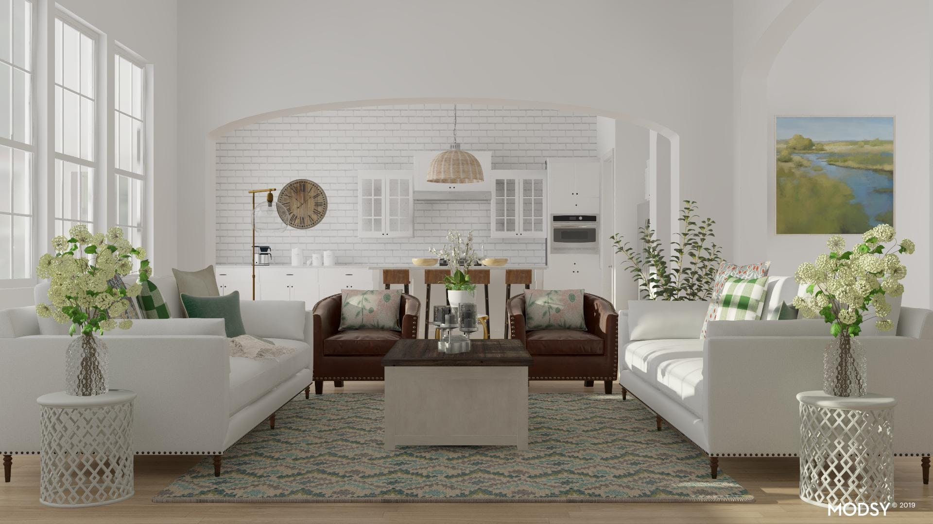 Farmhouse Fields Of Green: Rustic Living