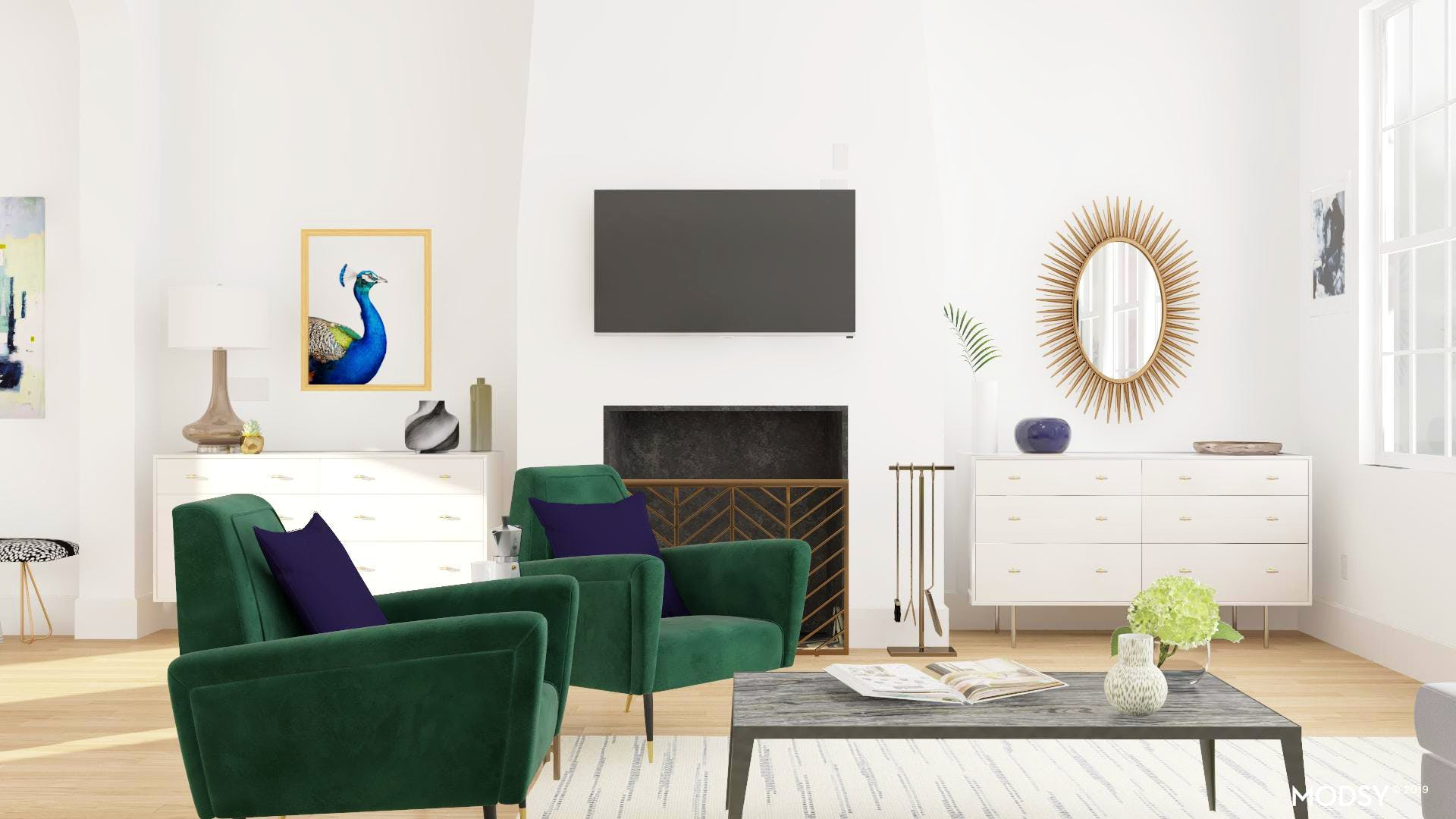 Armchair: Color Statement | Modern-Style Living Room ...