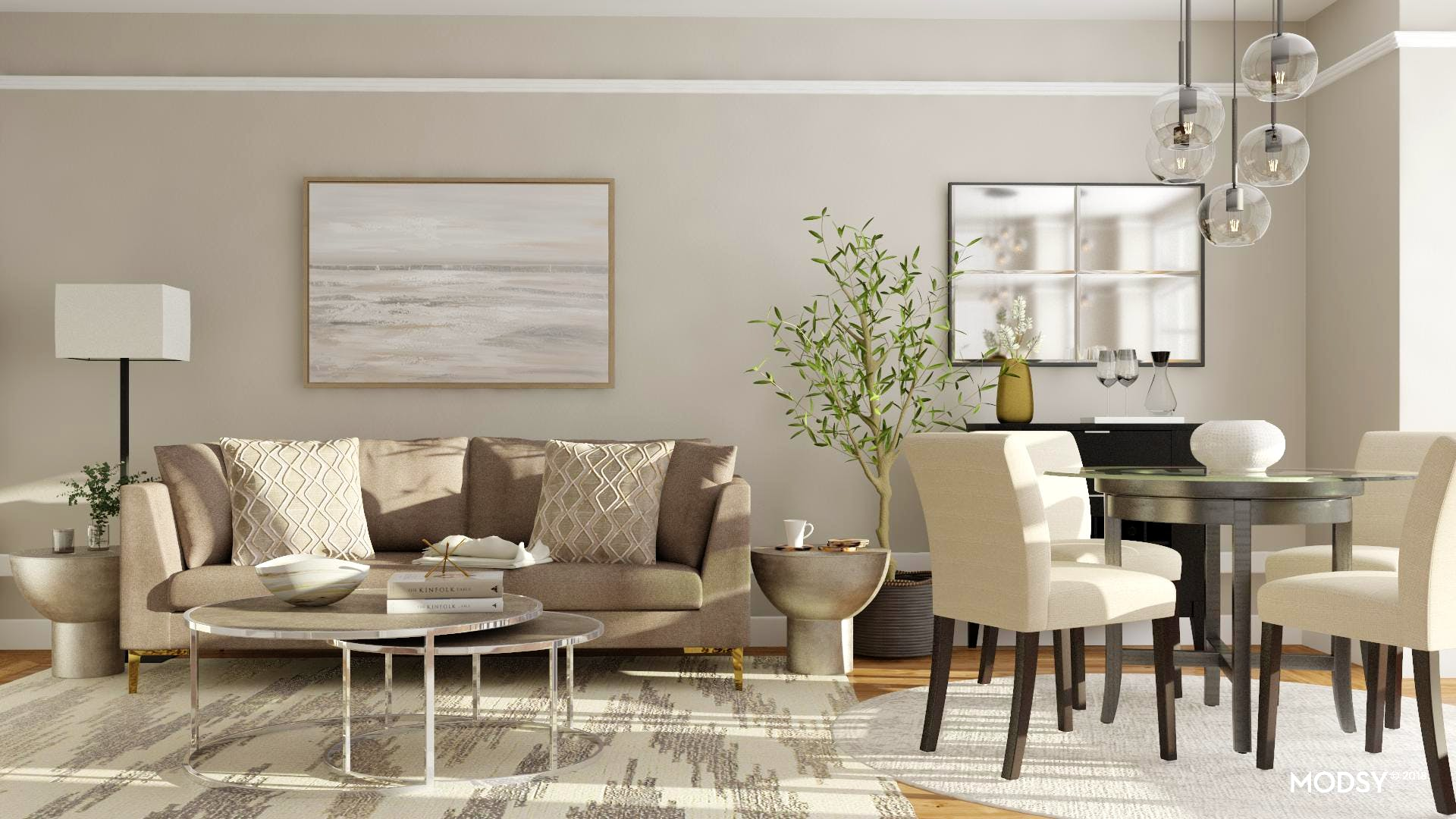Bring Modern Elegance To Your Open Living Room