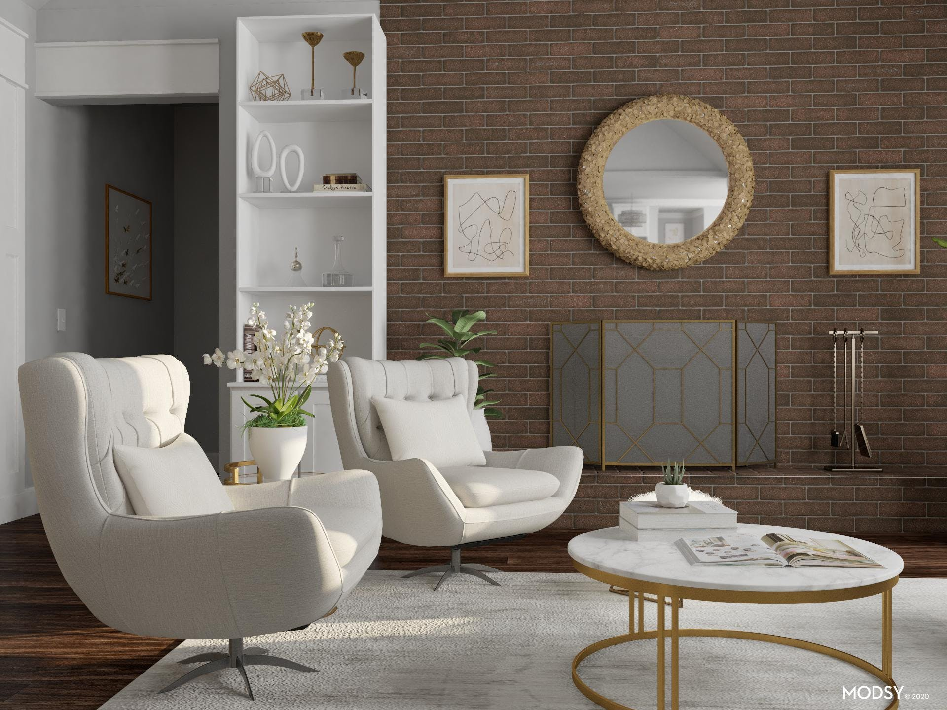 Chic & Luxurious Living Room