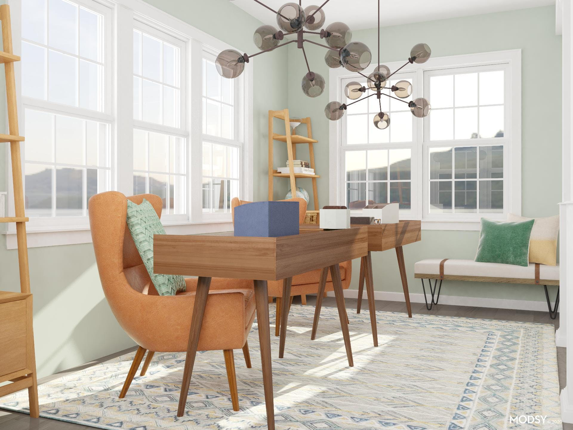 Time To Accessorize: A Mid-Century Office