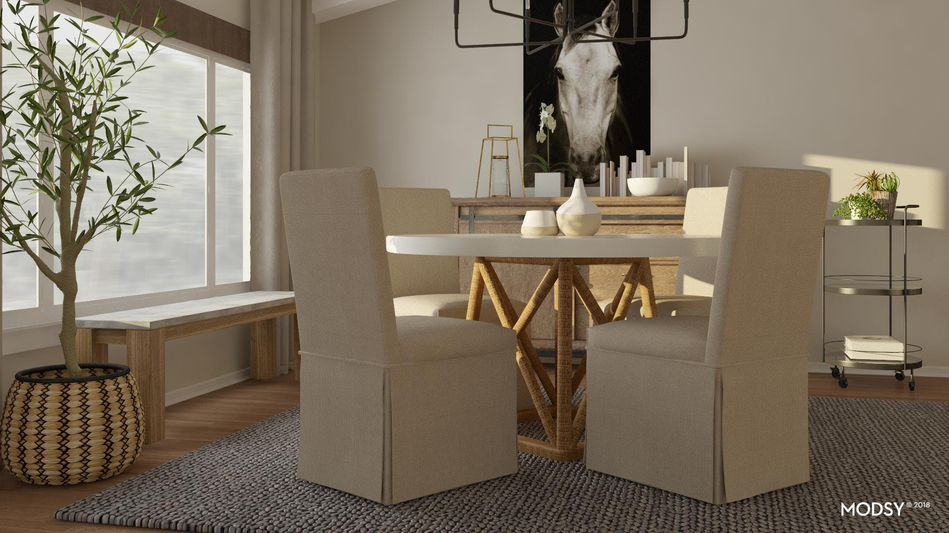 Small Modern Rustic Dining Nook