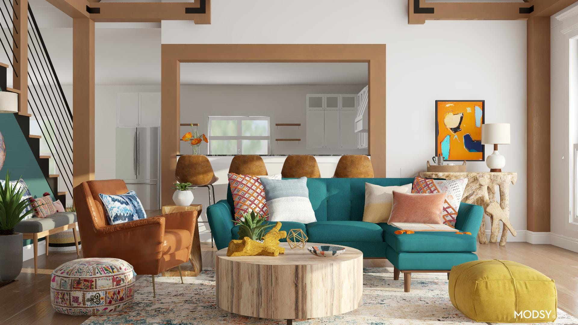 Bold And Brash Eclectic Living Room