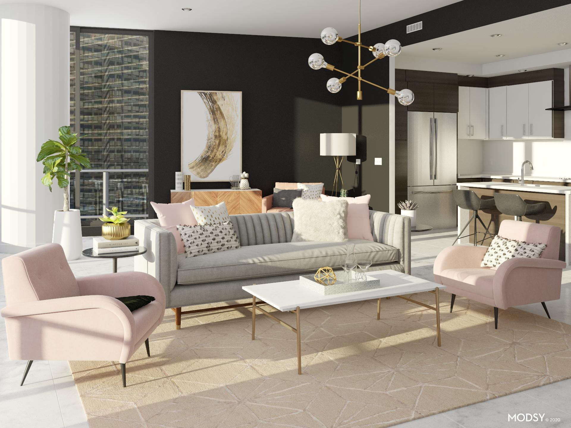 Pink, Gray And Glam Dazzle