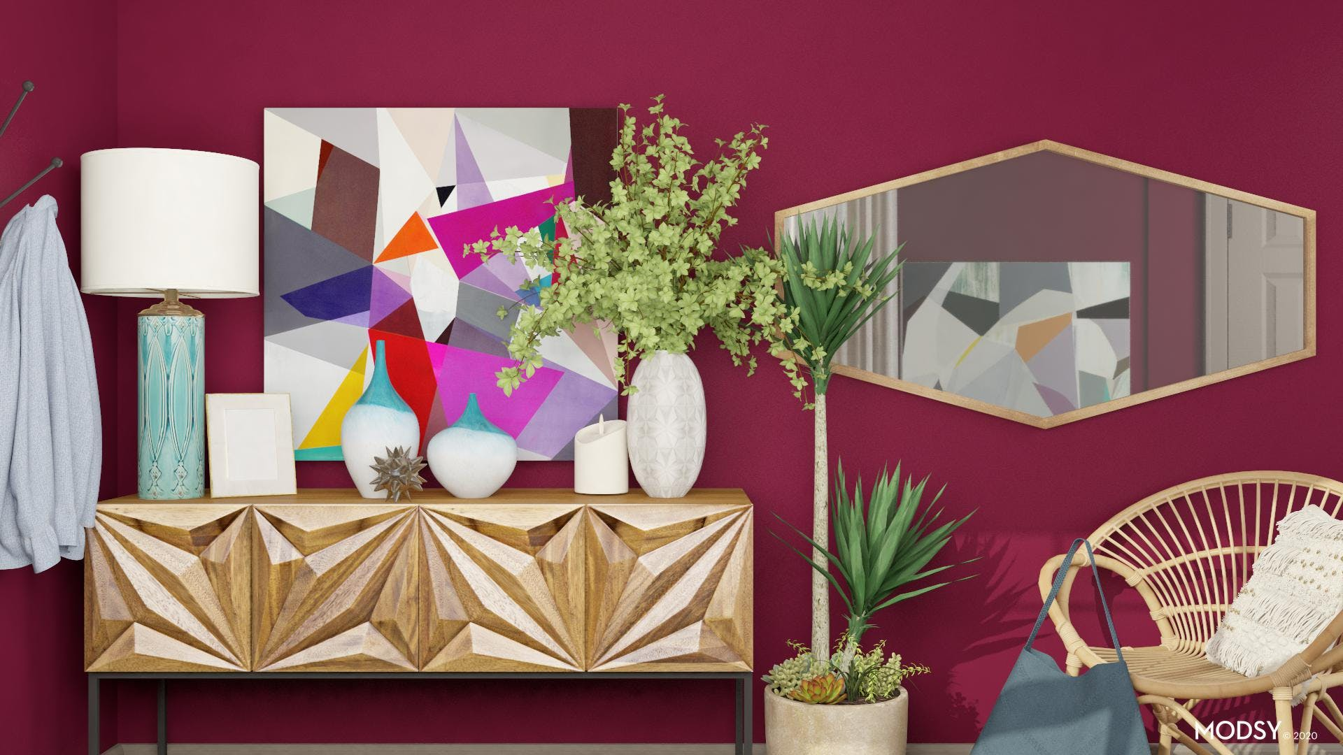 Jewel Tone Walls: Entry Wow