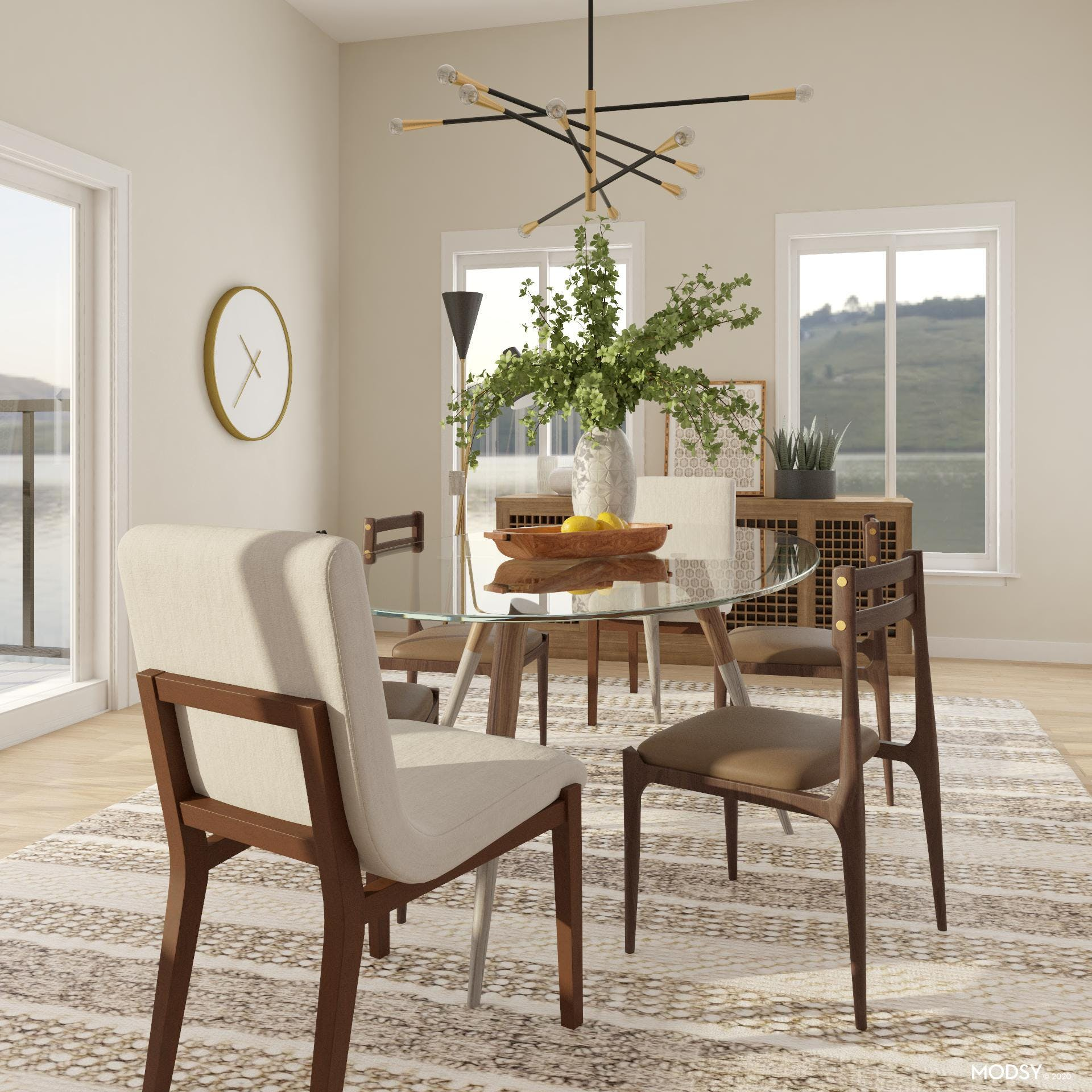 Oval Glass Table Top For A Modern Dining Room