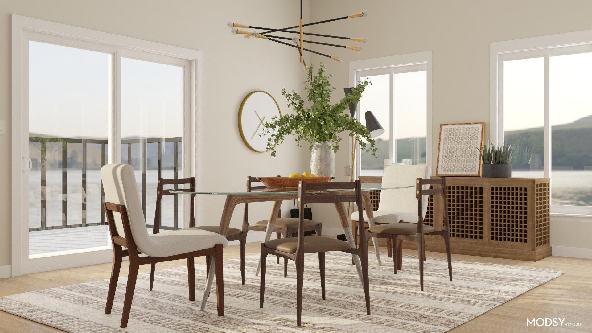 Neutral Tone For A Modern Dining Room