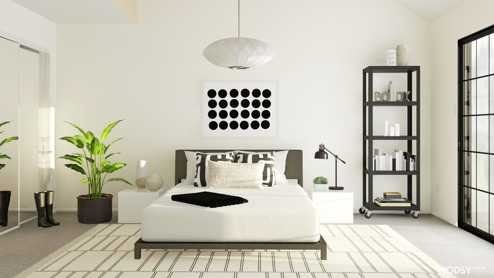 Industrial Minimalist Bedroom