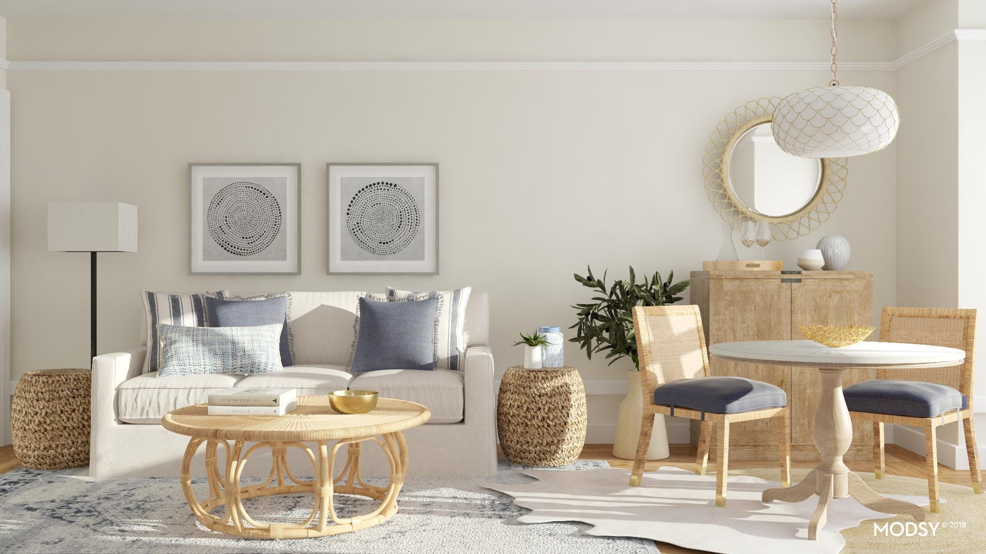 A Contemporary Classic Open Living Room