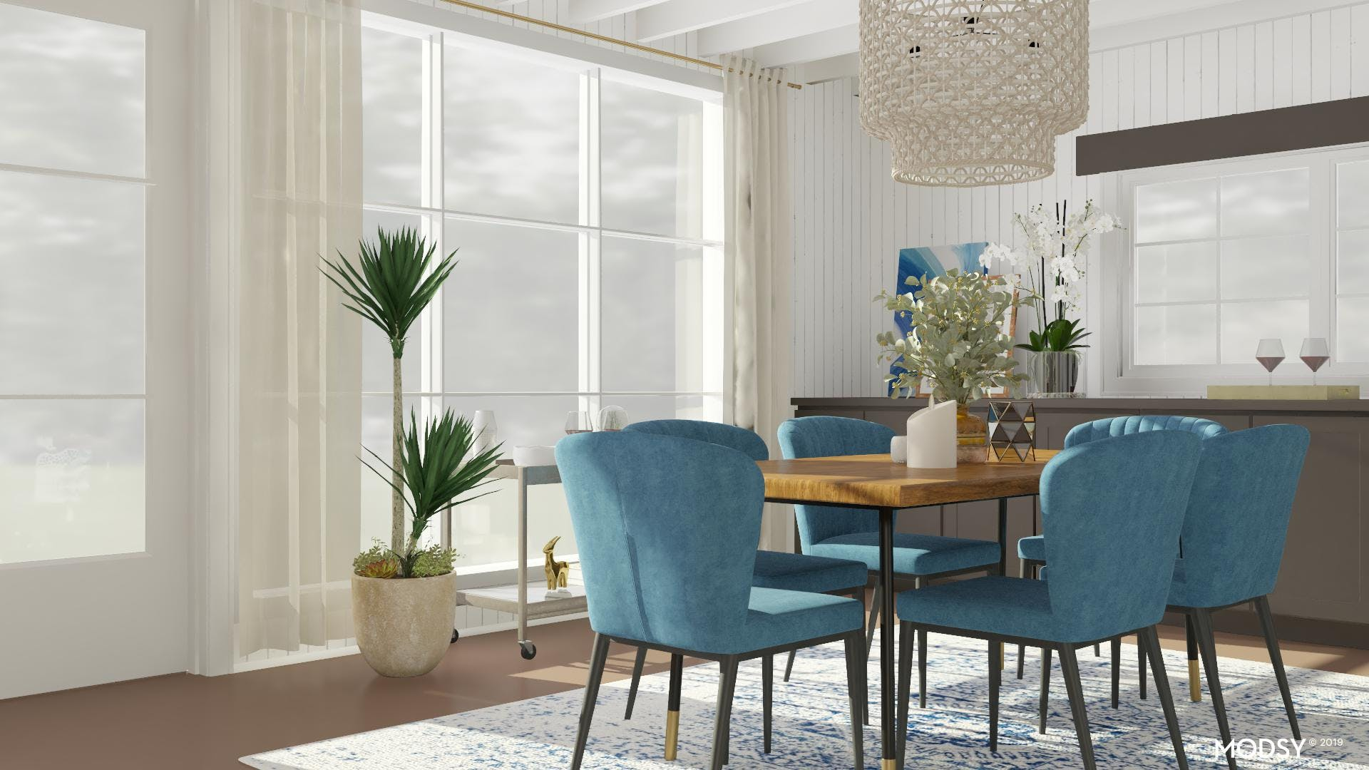 Bold Statement Energizes Dining Room