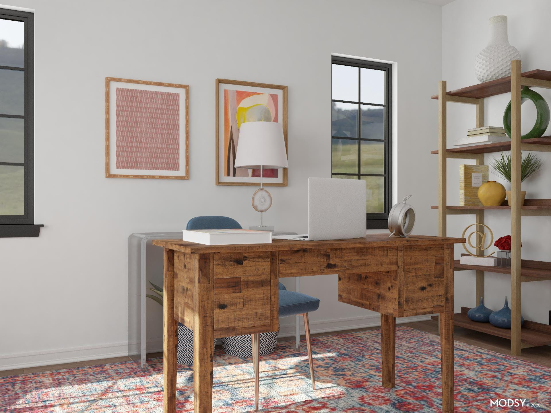 Eclectic Jewel Home Office