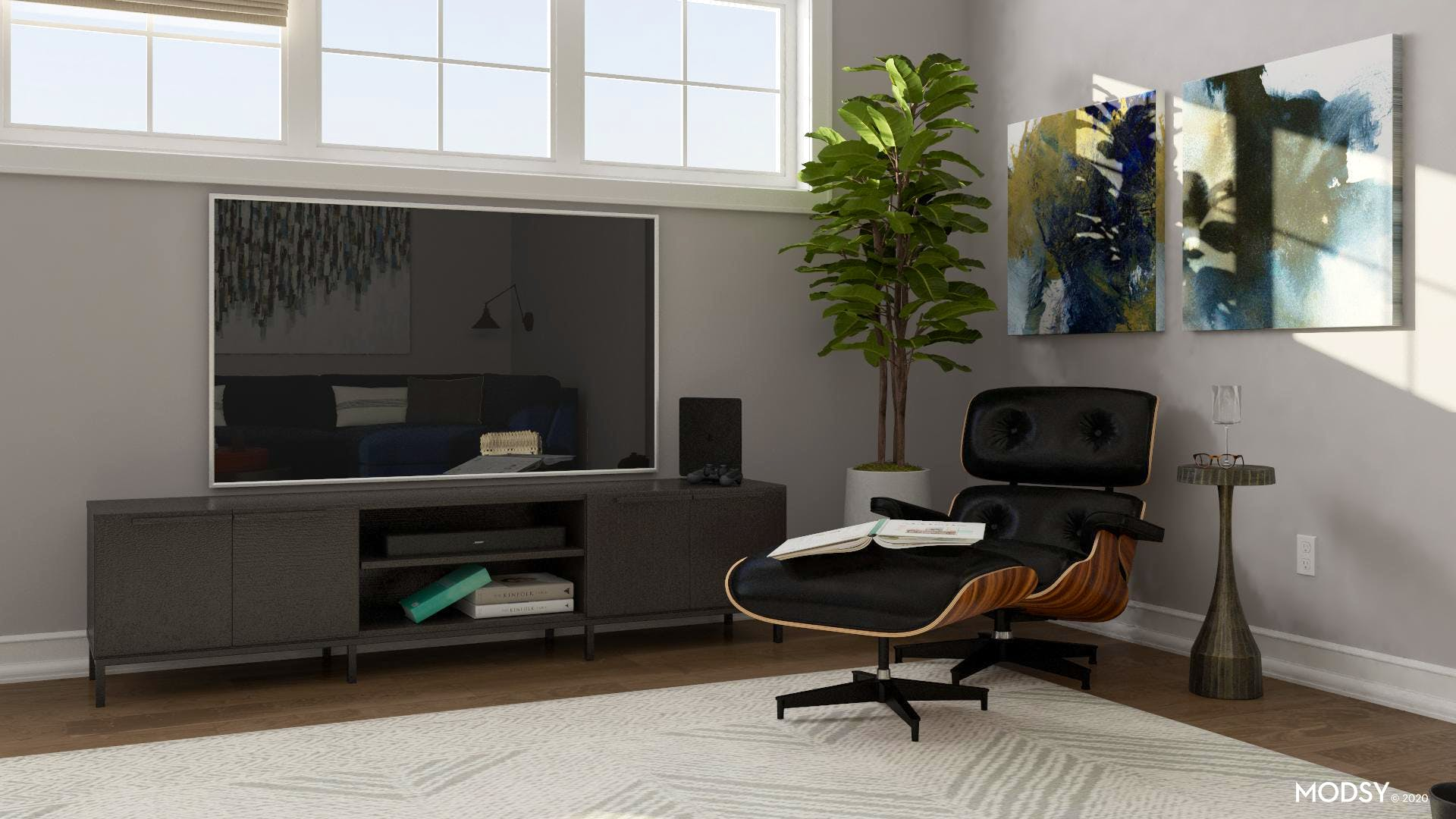 Industrial Living: TV Placement