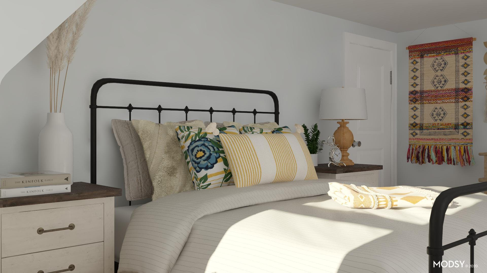 His and Her Side of the Bed: Rustic Design
