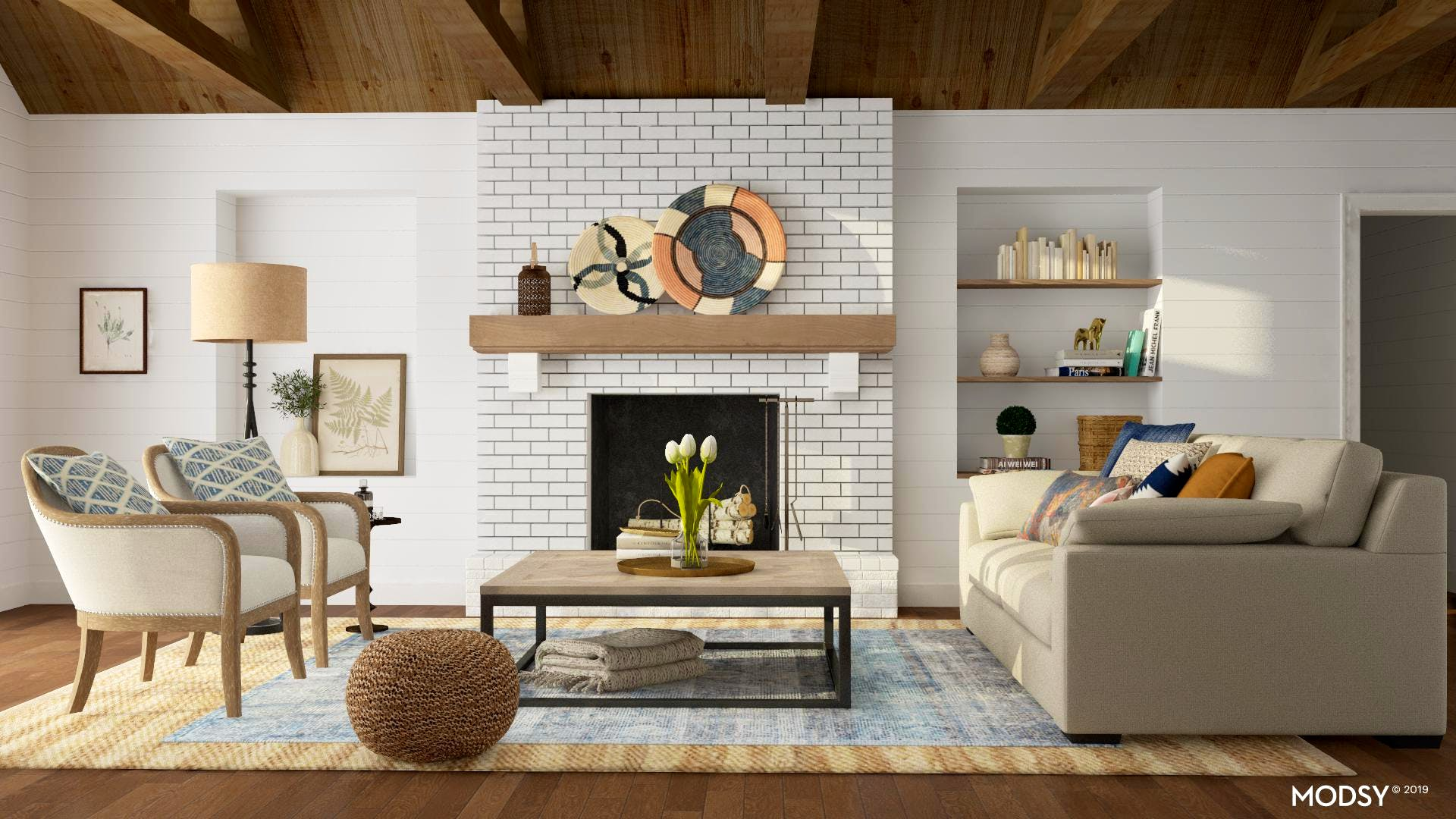 Rustic Warmth For a Formal Layout Living Room