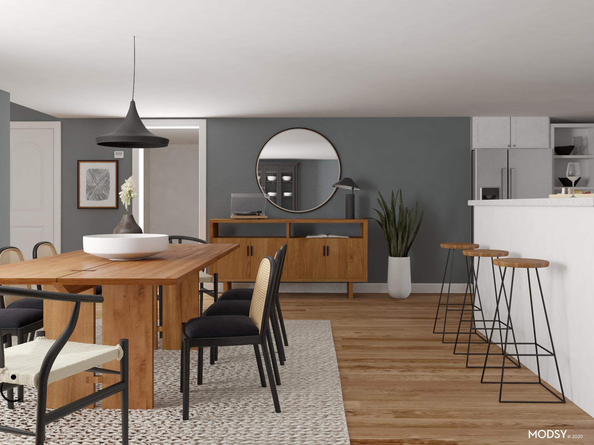 Minimalist Dining Room with Style