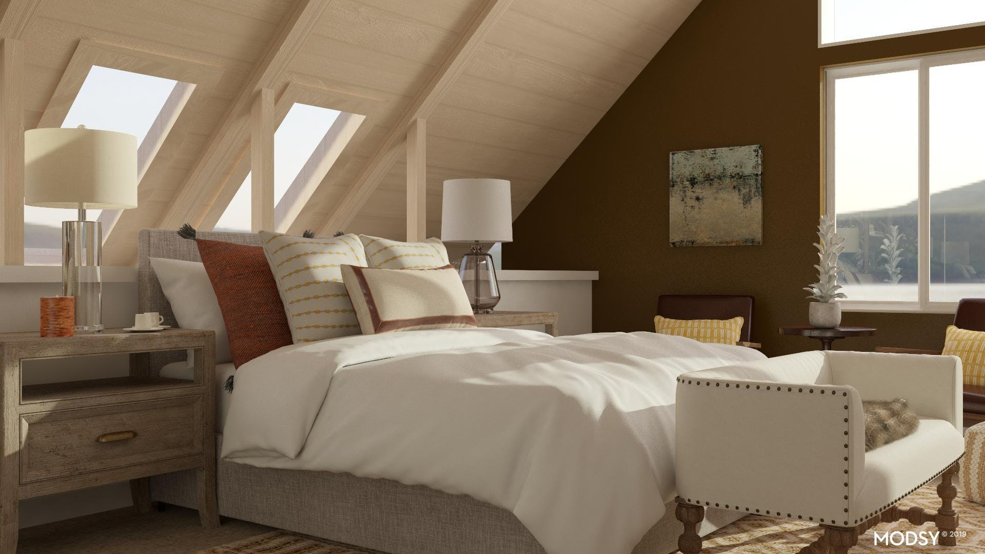 Transitional Paradise Bedroom