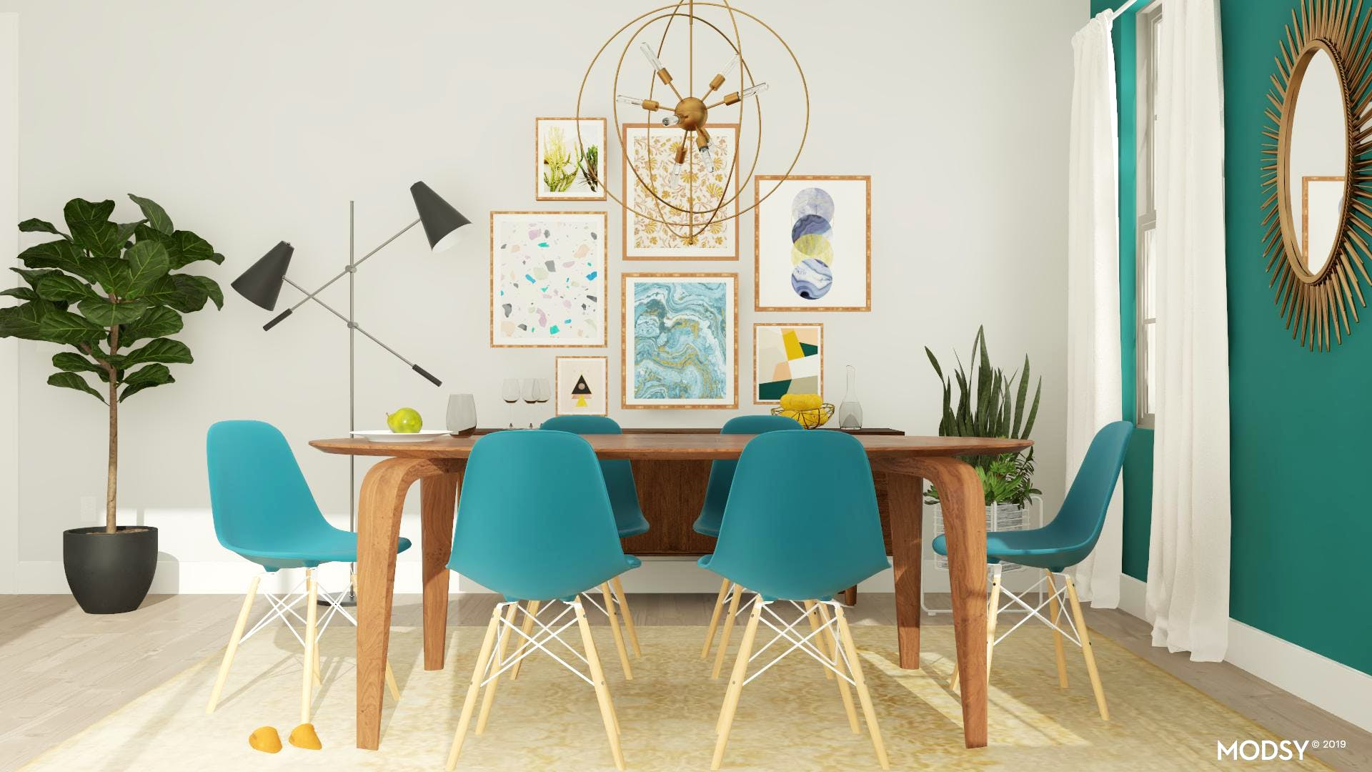 Give Color A Chance: Mid-Century Dining Room