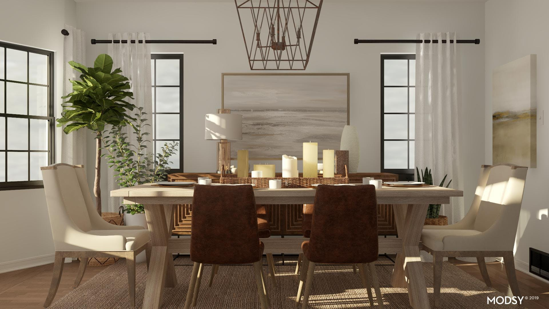 Kid Friendly and Contemporary Dining Room
