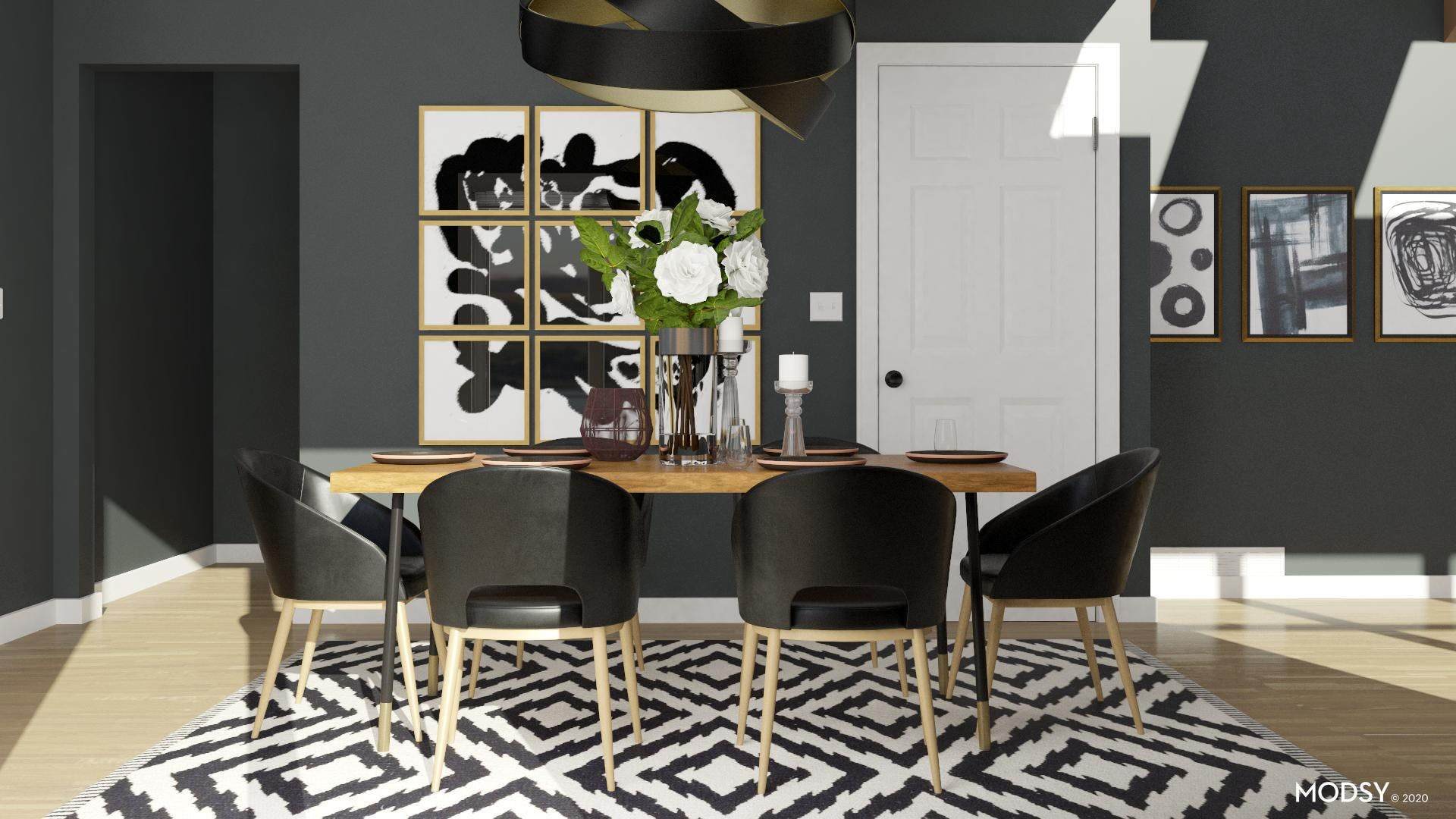 Eclectic Black & White Dining