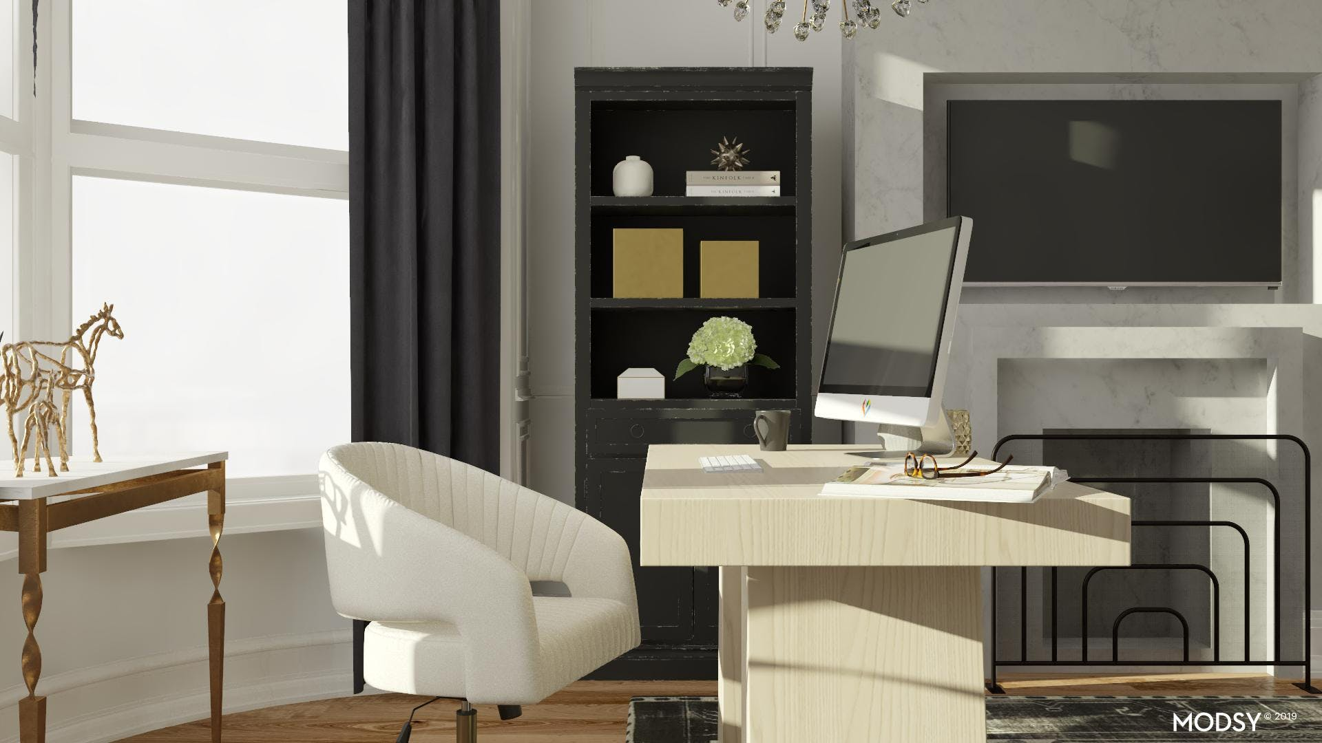 Glam in Black And White: Office