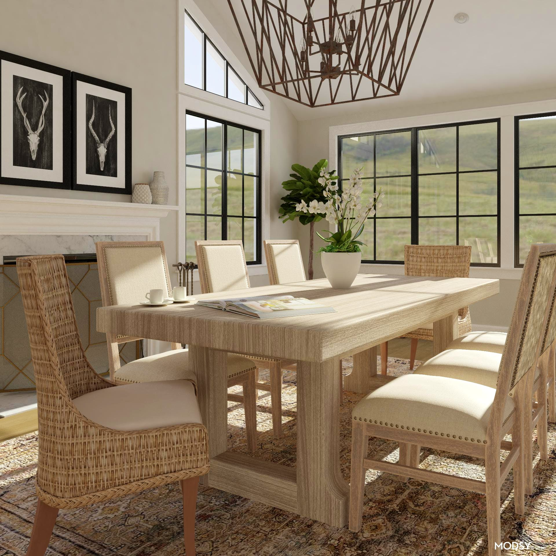 Understated Rustic Dining Room