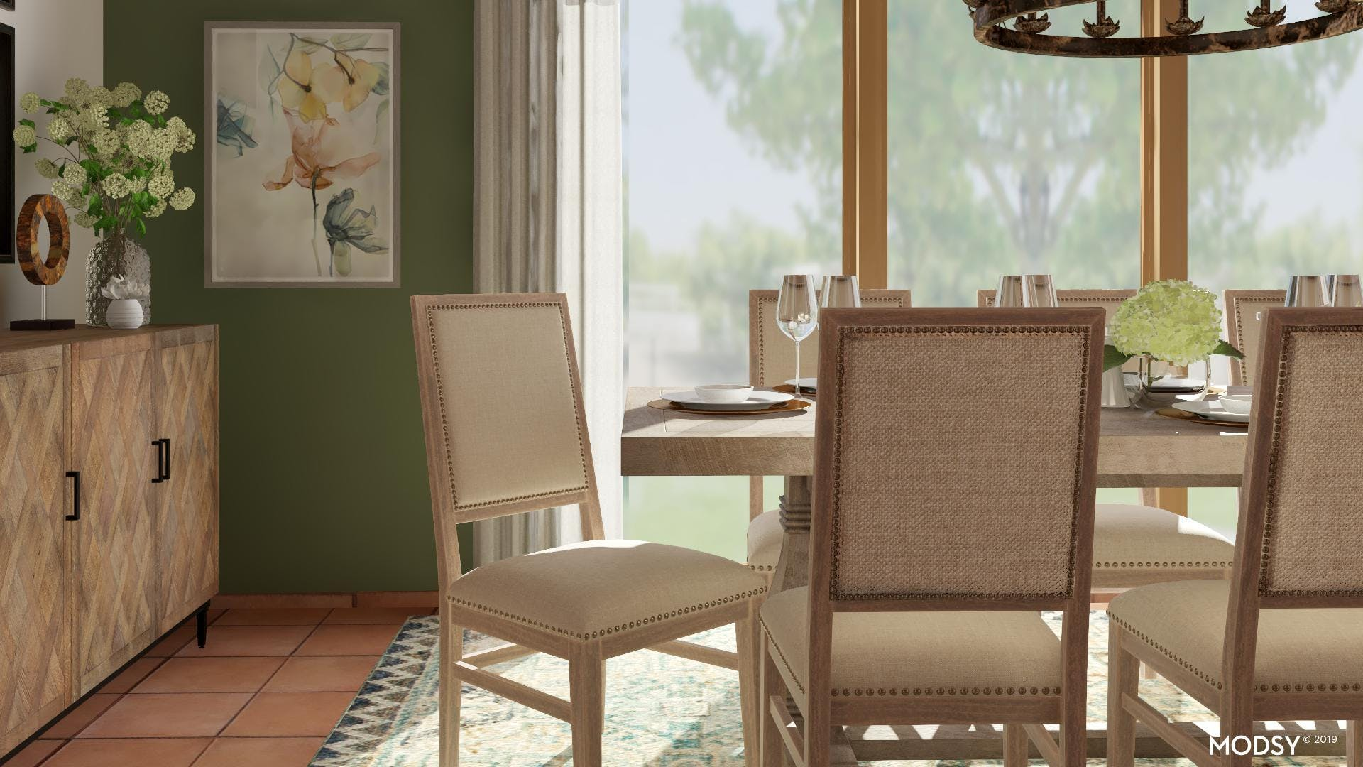Close Up: Rustic Dining Room