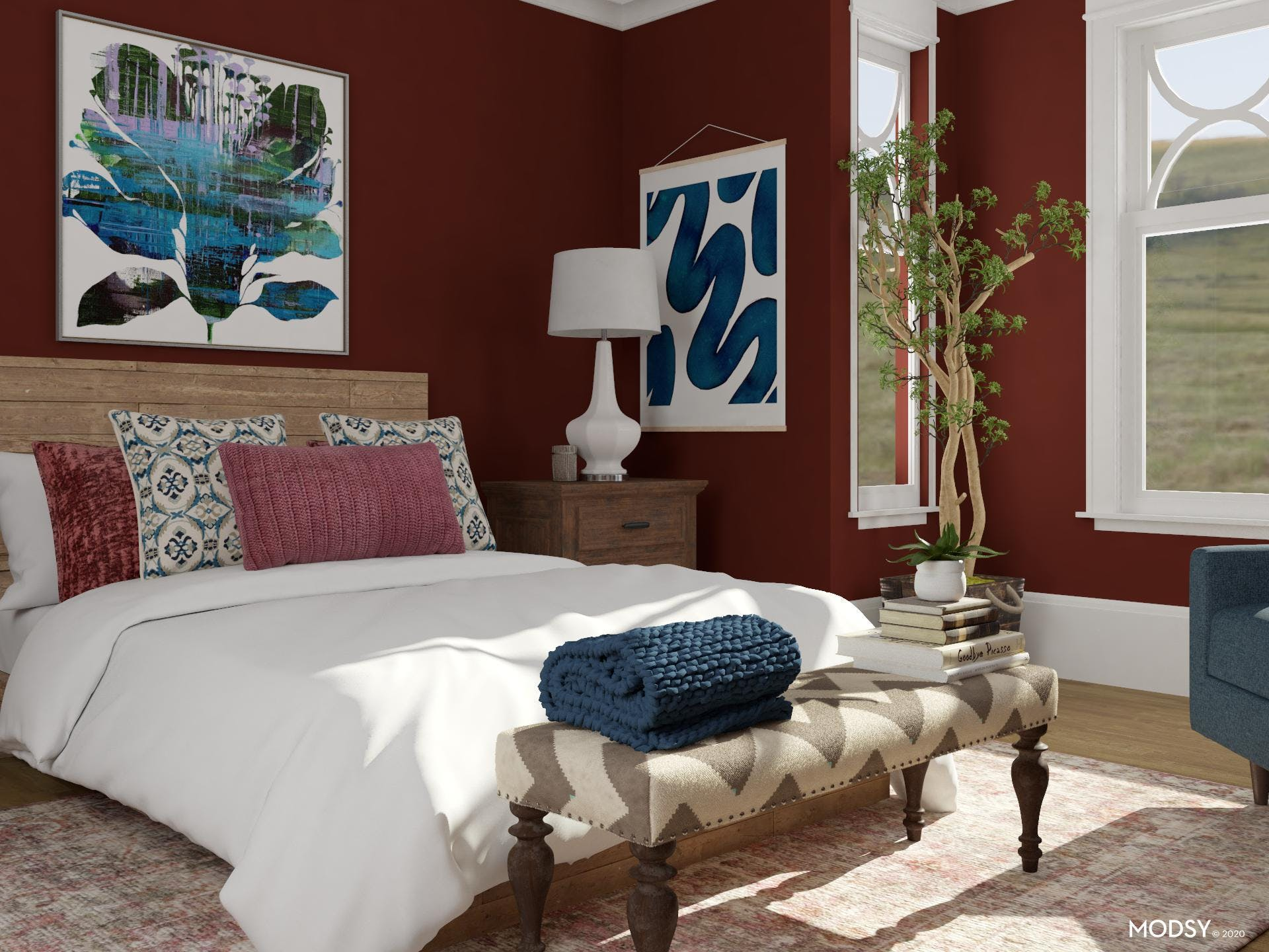 Textures in A Transitional Bedroom
