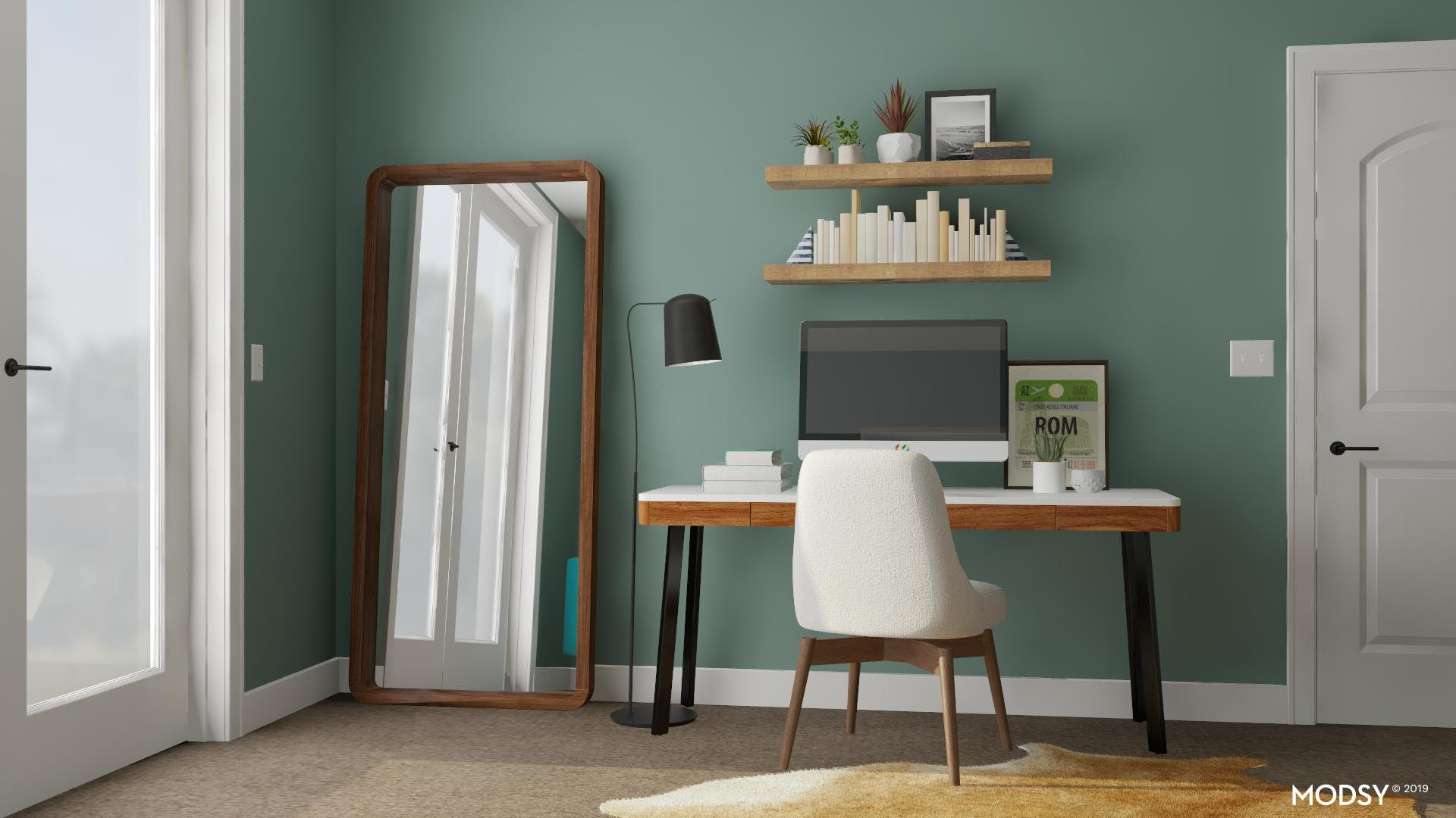 Small Green Home Office Wonders