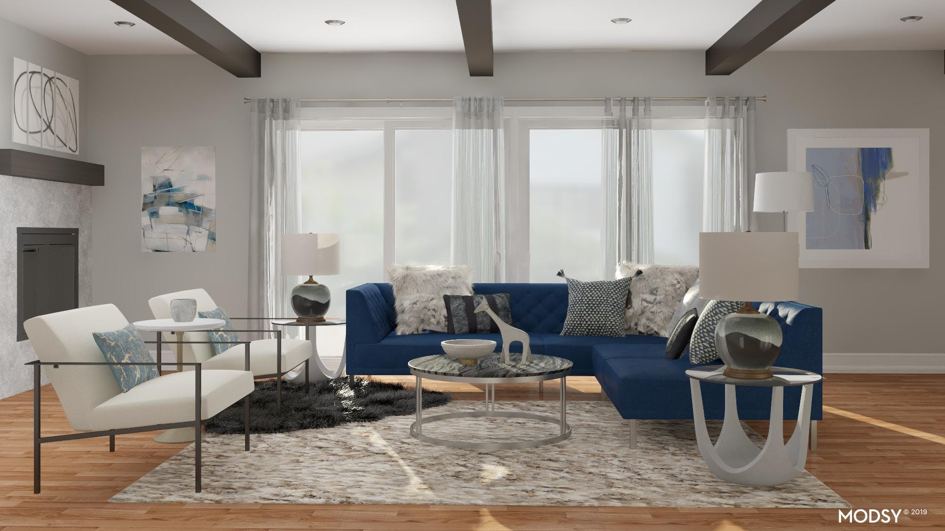 Bold In Blue: Modern Sectional