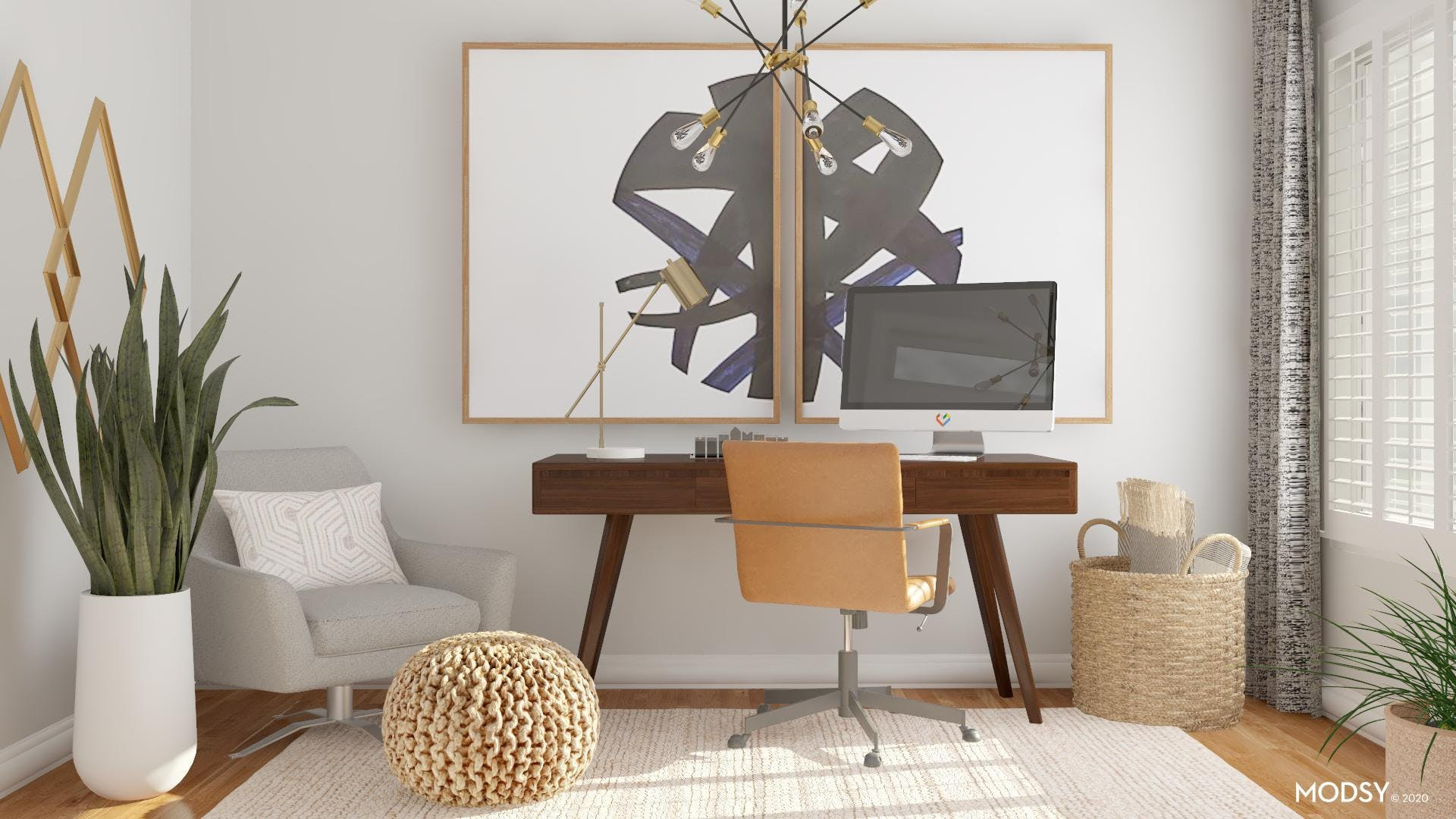Mid-Century Office: Clean Lines