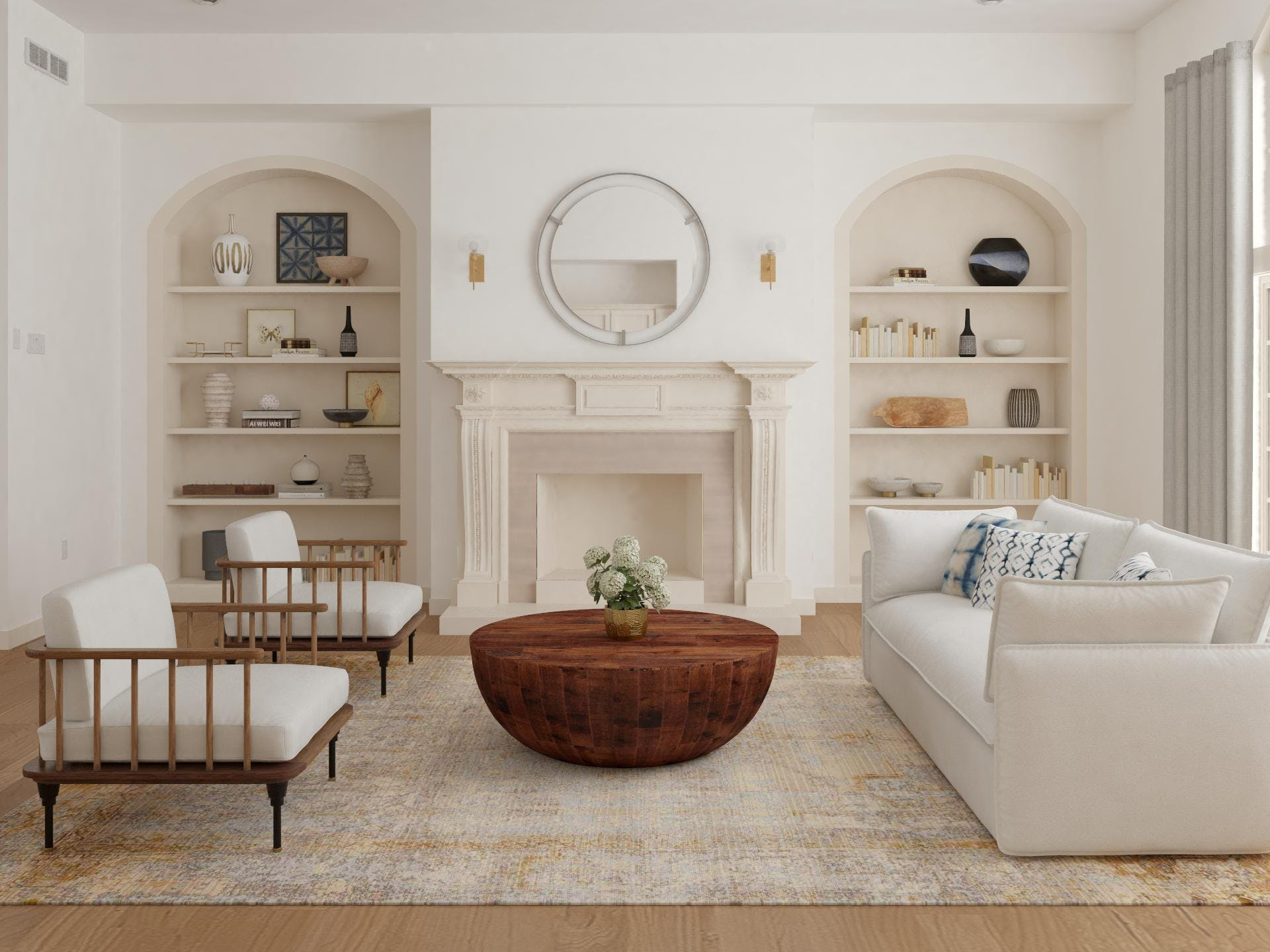 Beautiful Living Room in Contemporary Neutral Color Palette