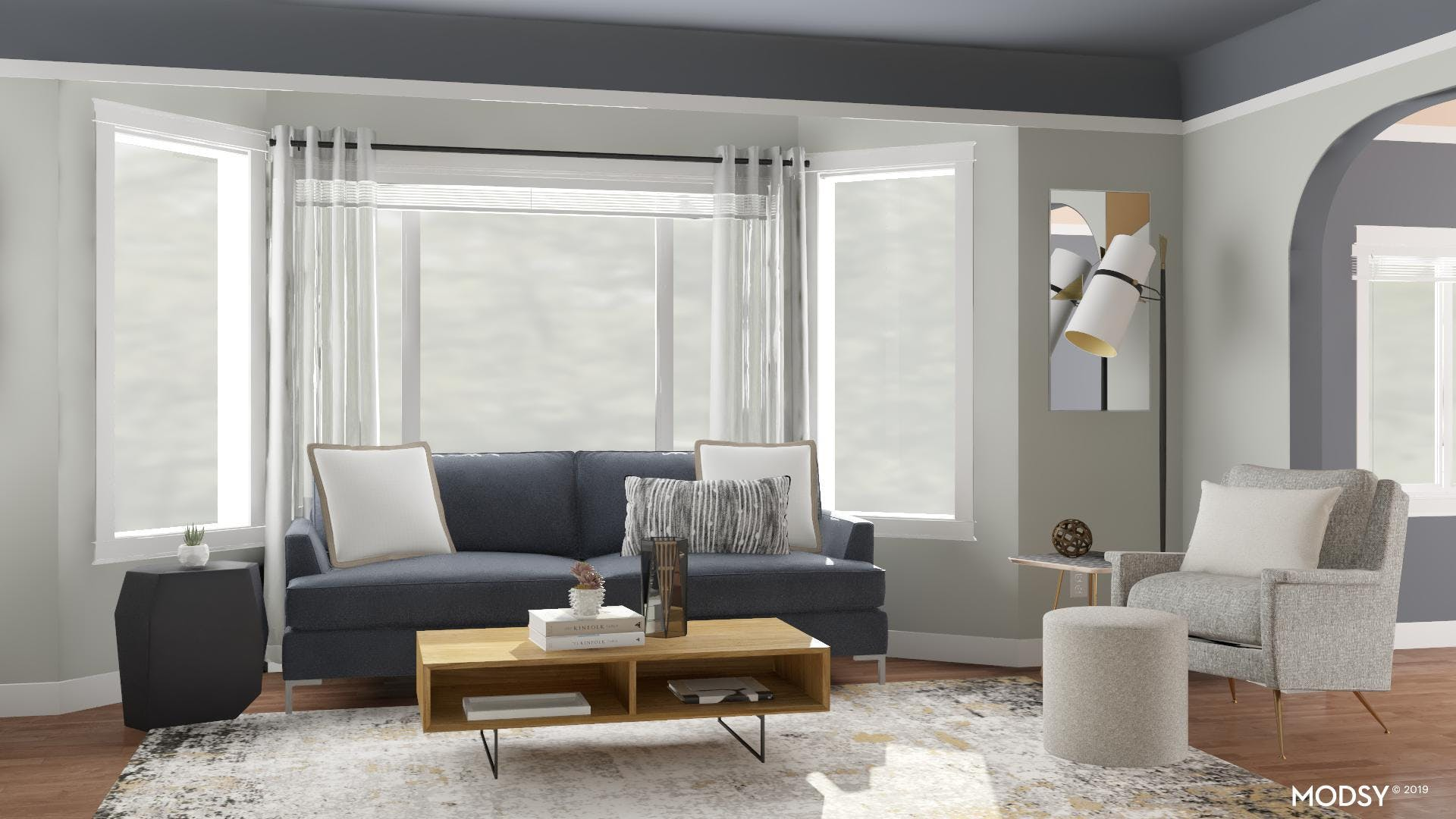 A Contrasted Modern Living Room