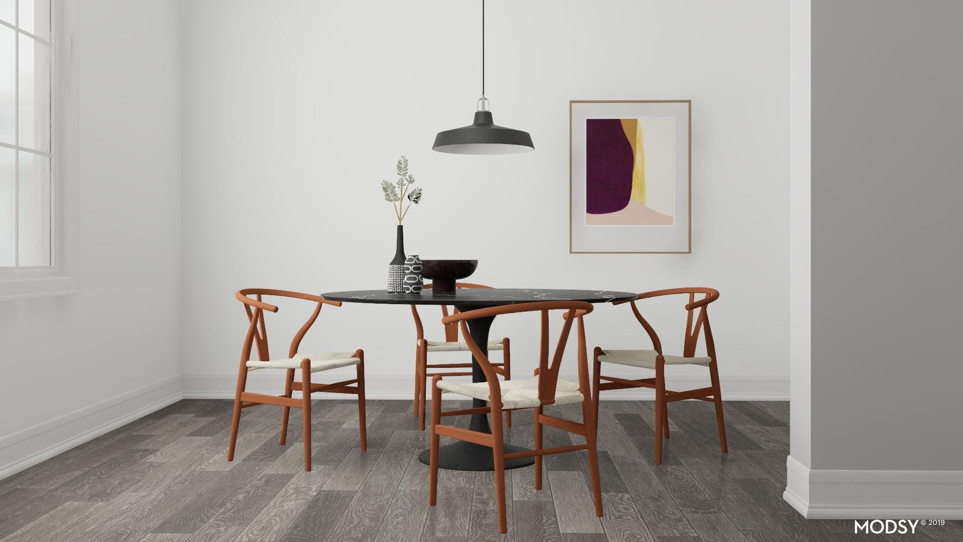 A Modern Statement Dining Space