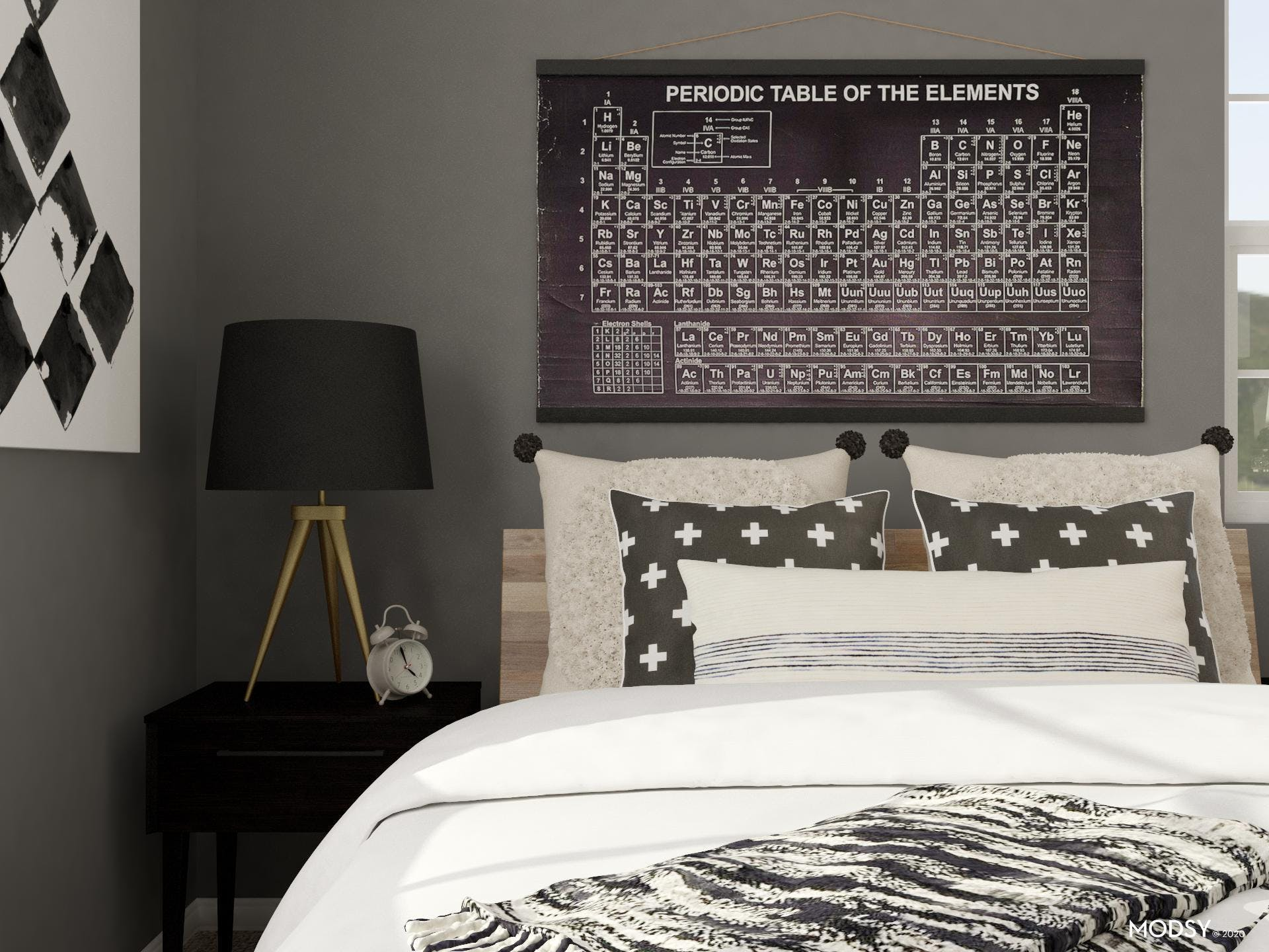 Industrial Contrast: Bedroom
