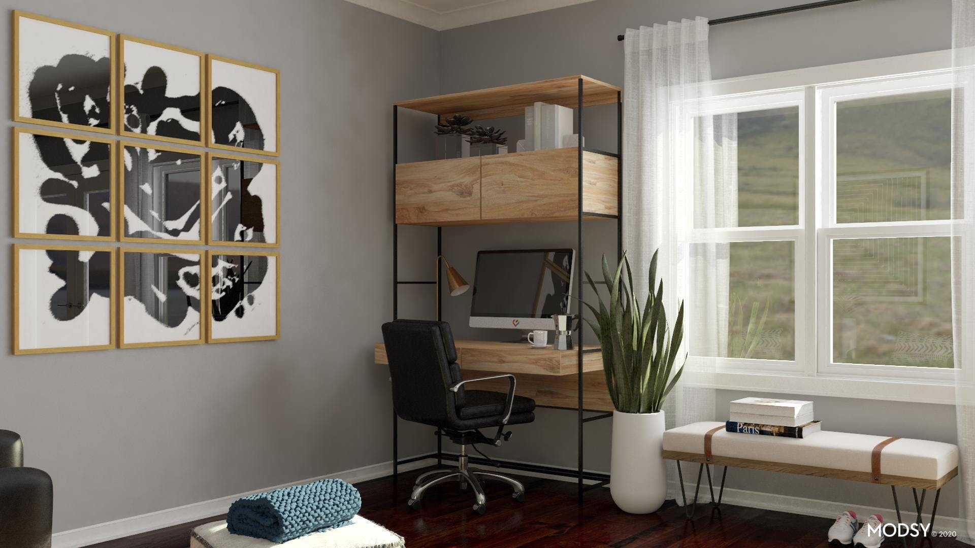 Black and White Office: Metallic Additions