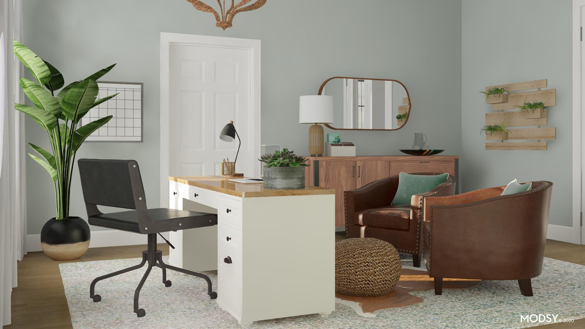 Green Rustic Office