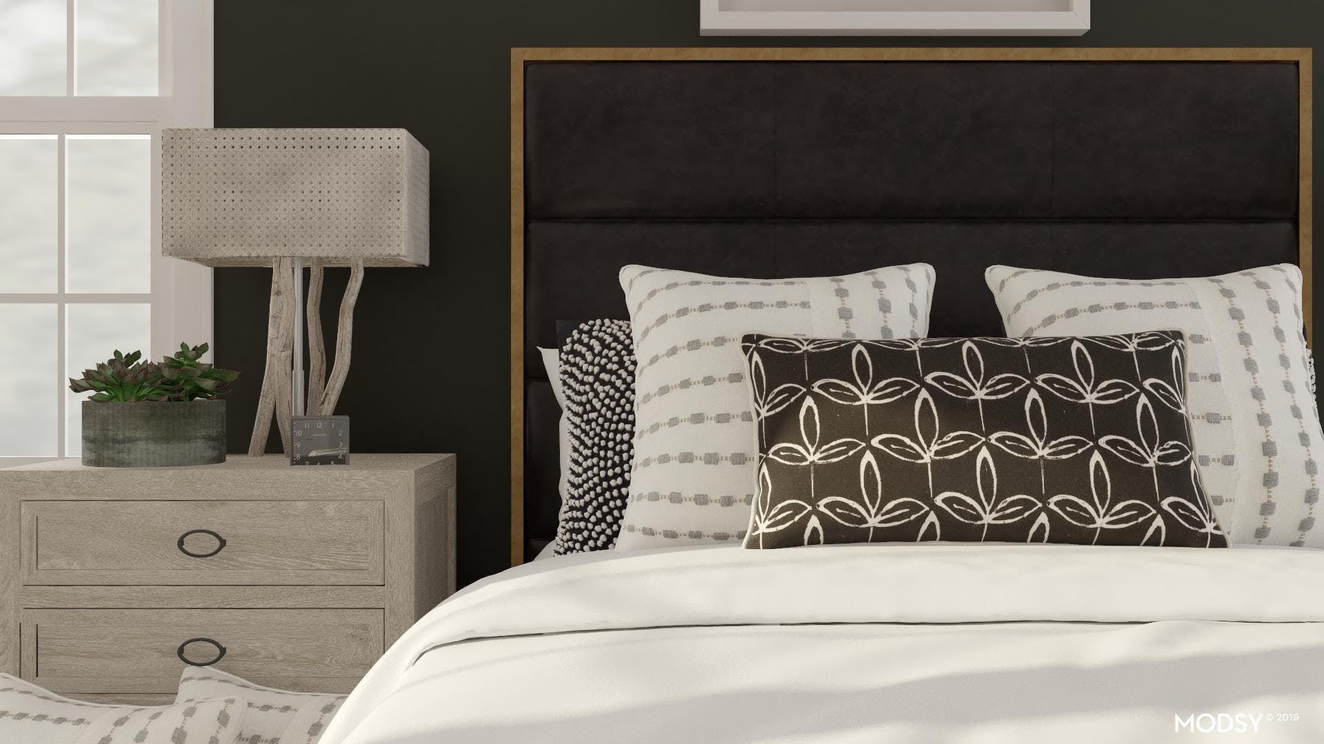 Industrial Bedroom with a Touch of Softness