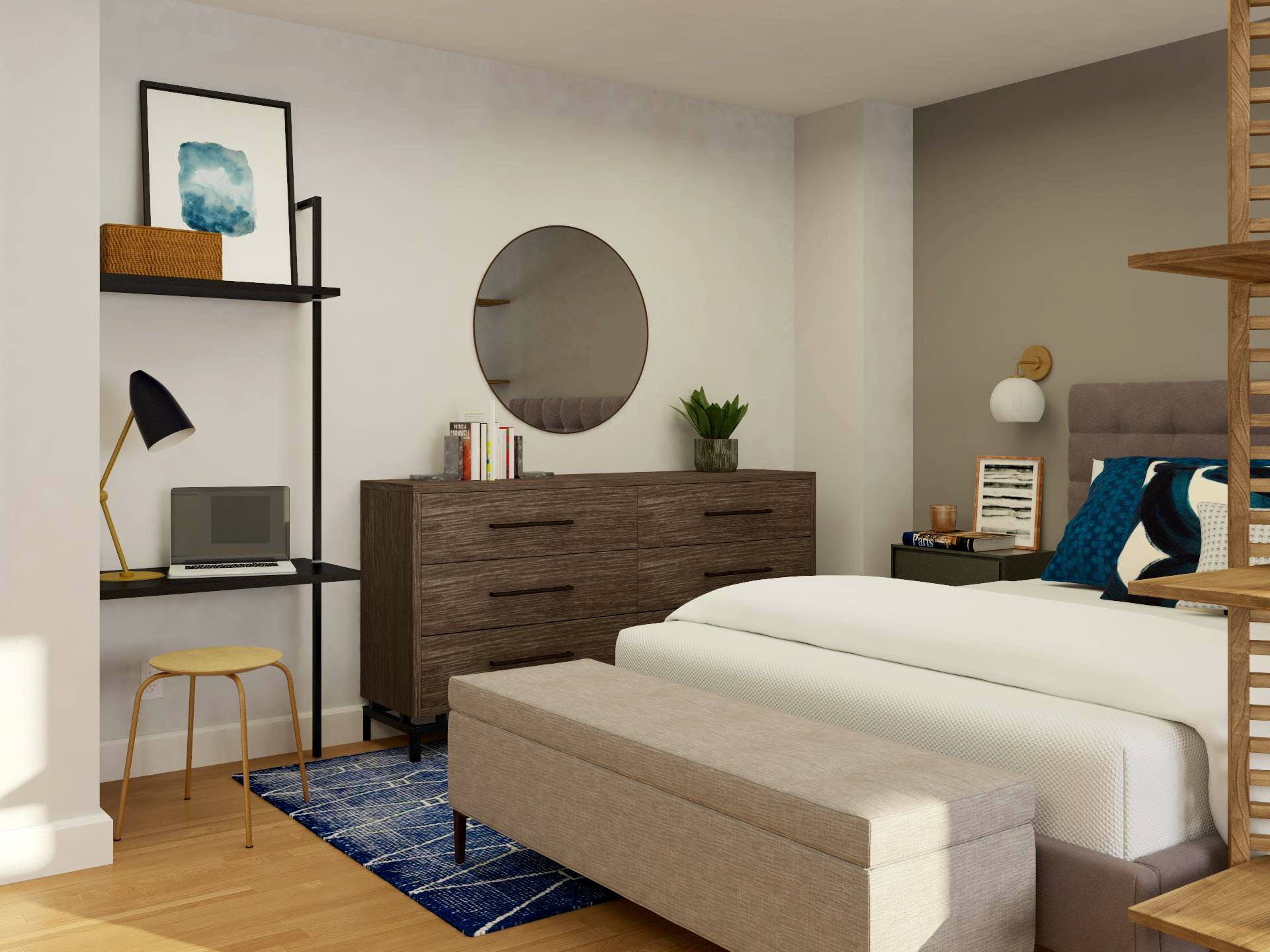 Climb The Ladder: Apartment Office In Bedroom