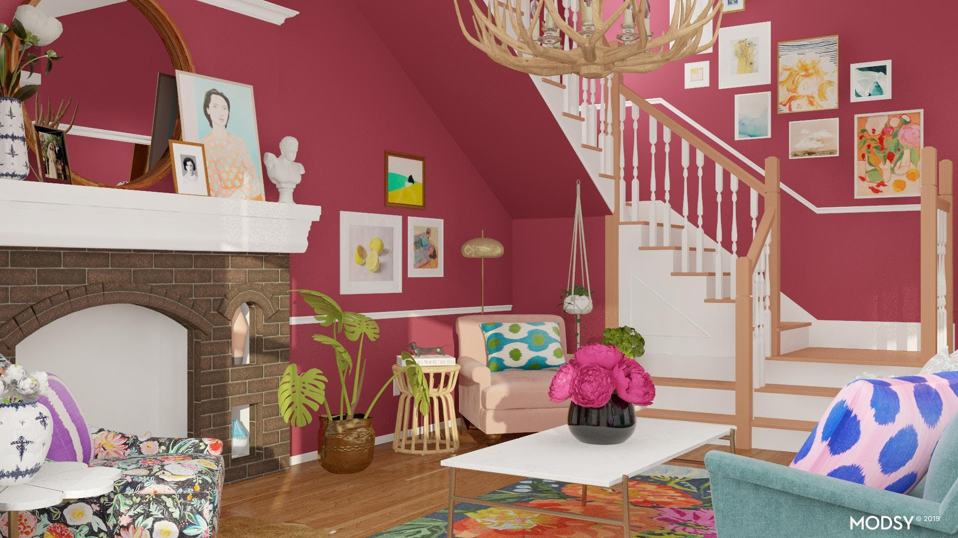 Bring the Bold: An Eclectic Living Room