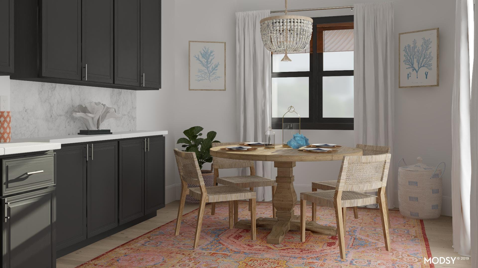 Multicolor Coastal: Dining Room