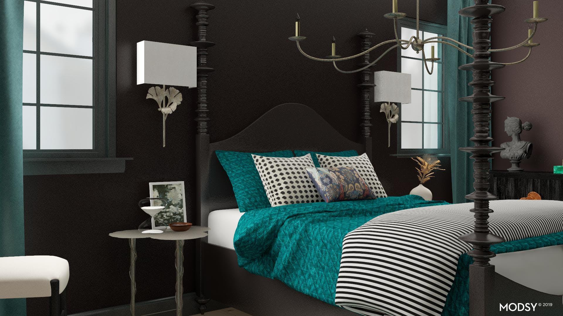 Bewitching Boudoir- Traditional meets Chic Bedroom