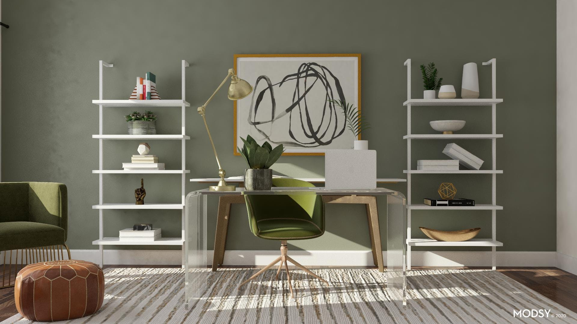Green Minimalism in Home Office