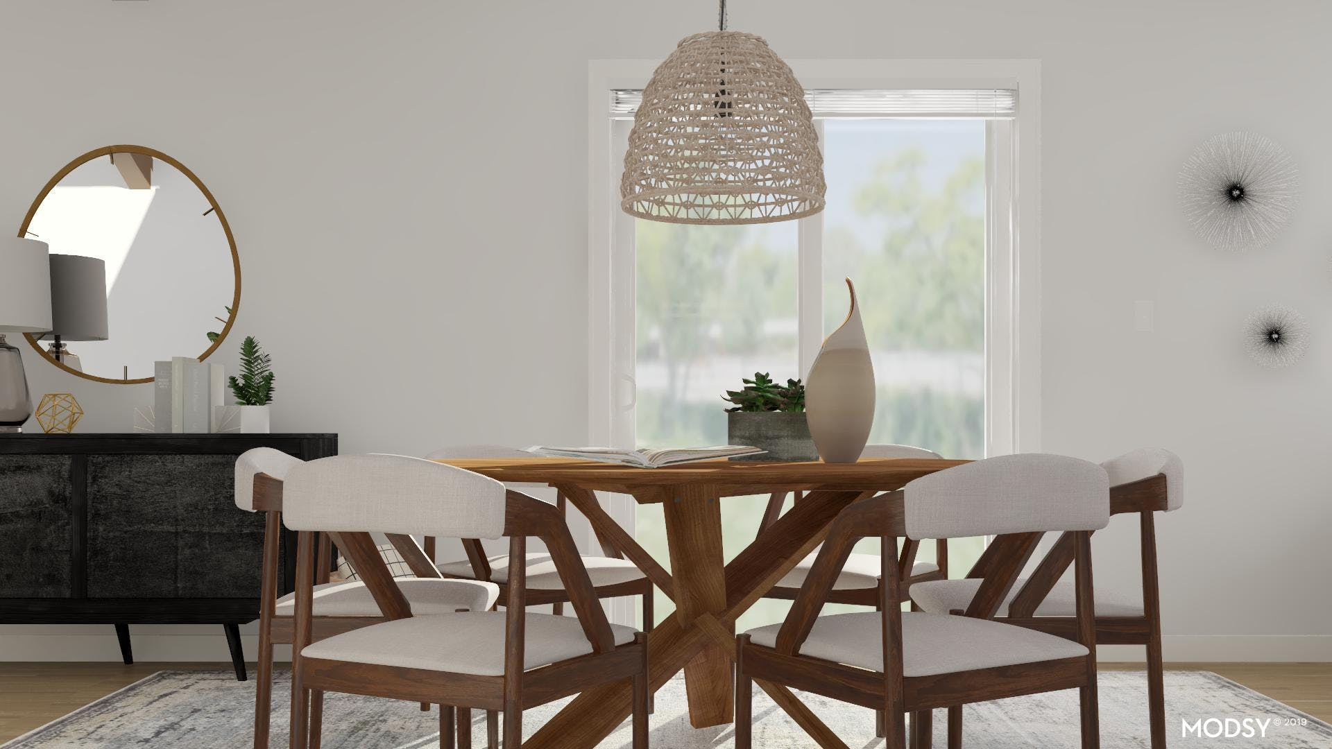 A Simple And Chic Dining Room