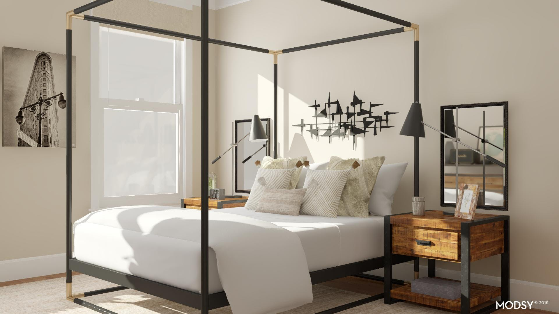 On Trend Industrial Bedroom