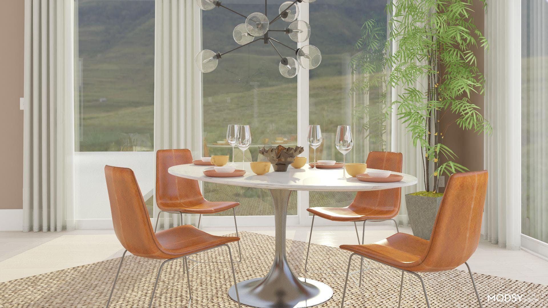 Round Tulip Dining Table