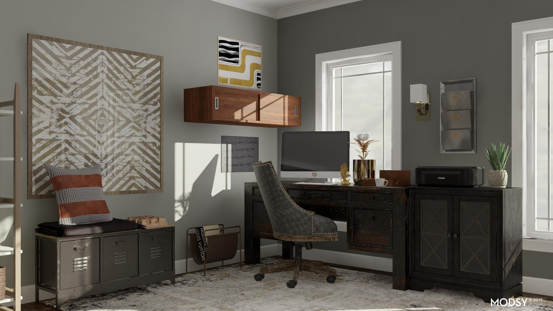 Transitionally Rugged Office